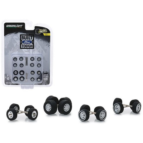 """""""Built Ford Tough"""" Wheel and Tire Multipack Set of 24 pieces """"Wheel & Tire Packs"""" Series 1 1/64 by Greenlight - image 1 of 1"""