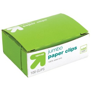 Paper Clips Jumbo 100ct - Up&Up , Silver Purple