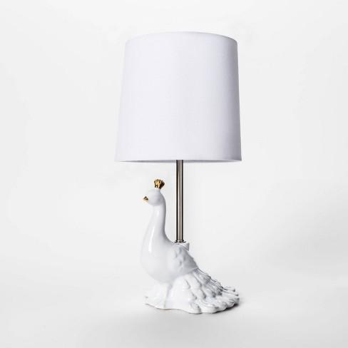 Peacock Figural Table Lamp - Pillowfort™ - image 1 of 2