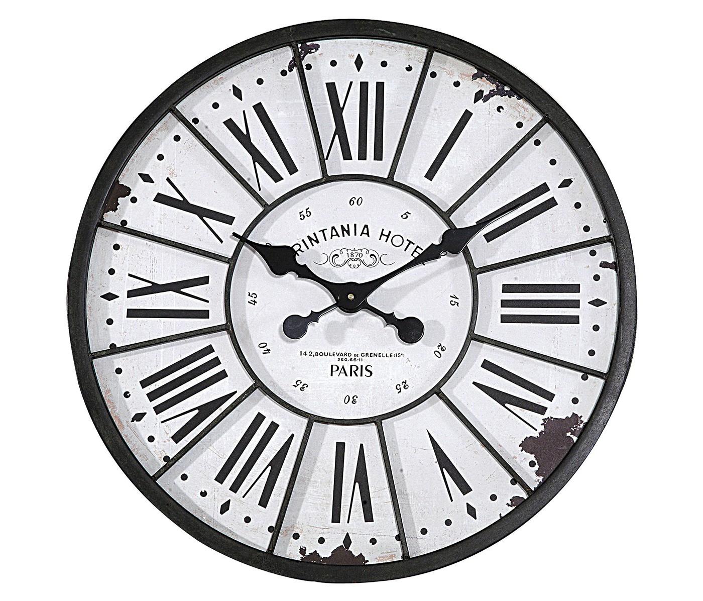 "24"" Round Metal & Wood Clock Black/White - 3R Studios - image 1 of 9"