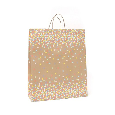 Extra Large Recycled Paper Dots Kraft Gift Bag - Spritz™