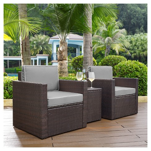Palm Harbor 3pc All-Weather Wicker Patio Conversation Set - Crosley - image 1 of 1