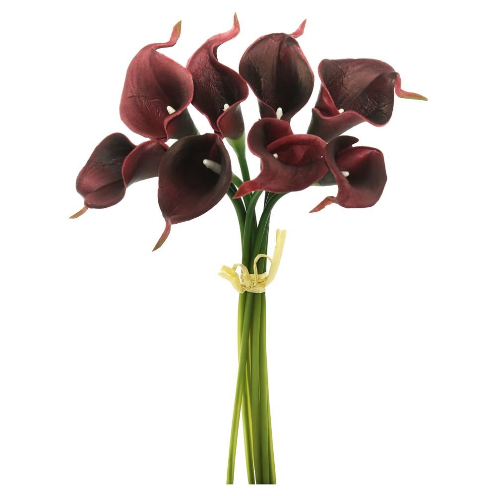 Artificial Calla Lily Bundle (14) Burgundy (Red) - Vickerman