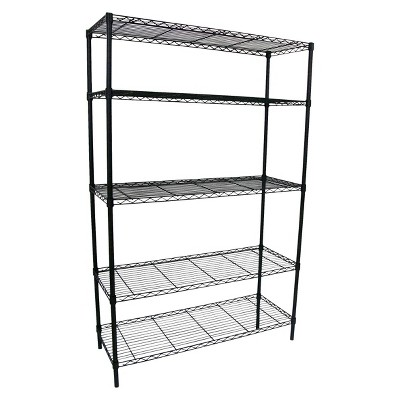 Adjustable 5-Tier Wire Wide Shelving Unit - Black - Room Essentials™