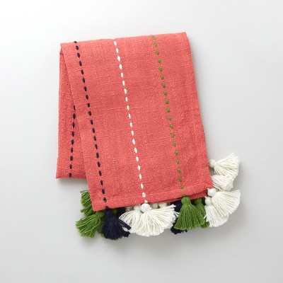 50  x 60  Multi-Tassel Outdoor Throw Coral - Opalhouse™