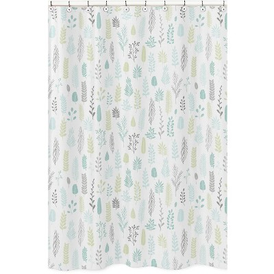 Leaf Shower Curtain Aqua - Sweet Jojo Designs