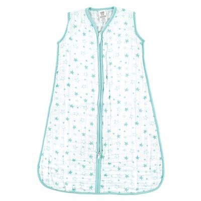 Luvable Friends Baby Sleeveless Muslin Cotton Sleeping Bag, Sack, Blanket, Stars Muslin