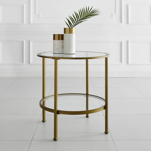 Aimee End Table Gold - Crosley - image 1 of 4