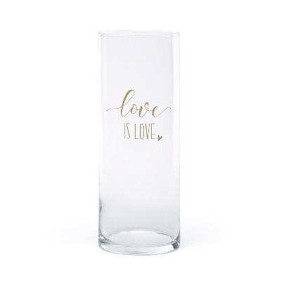 """Love is Love"" Vase Clear"