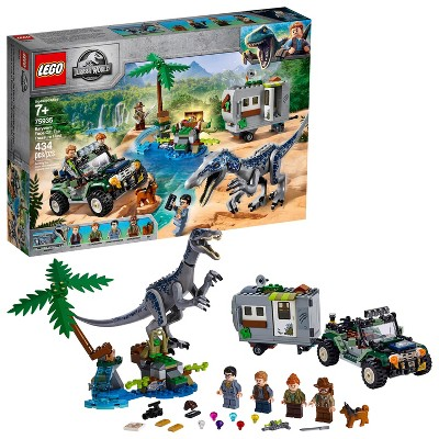 LEGO Jurassic World Baryonyx Face-Off: The Treasure Hunt Toy Dinosaur Building Kit 75935