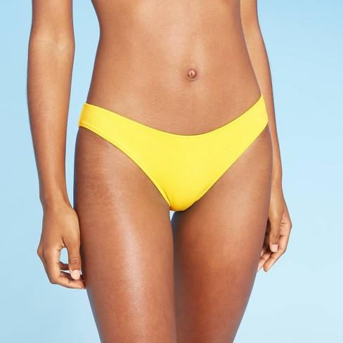 Women's Cheeky Bikini Bottom - Shade & Shore™ Sunray Yellow - image 1 of 4
