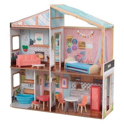KidKraft KDK-10154 Designed by Me Magnetic Makeover Dollhouse with Storage, 3D Magnets, Magnetic Accessories, Wallpaper, and Furniture, Multicolor