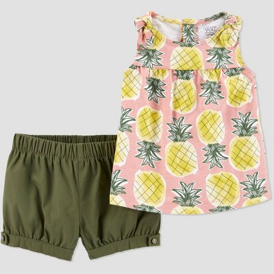 Baby Girls' 2pc Pineapple Top & Bottom Set - Just One You® made by carter's Pink 12M