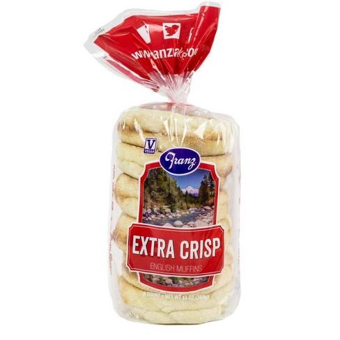 Franz English Muffins Extra Crisp - 6ct/13oz - image 1 of 4