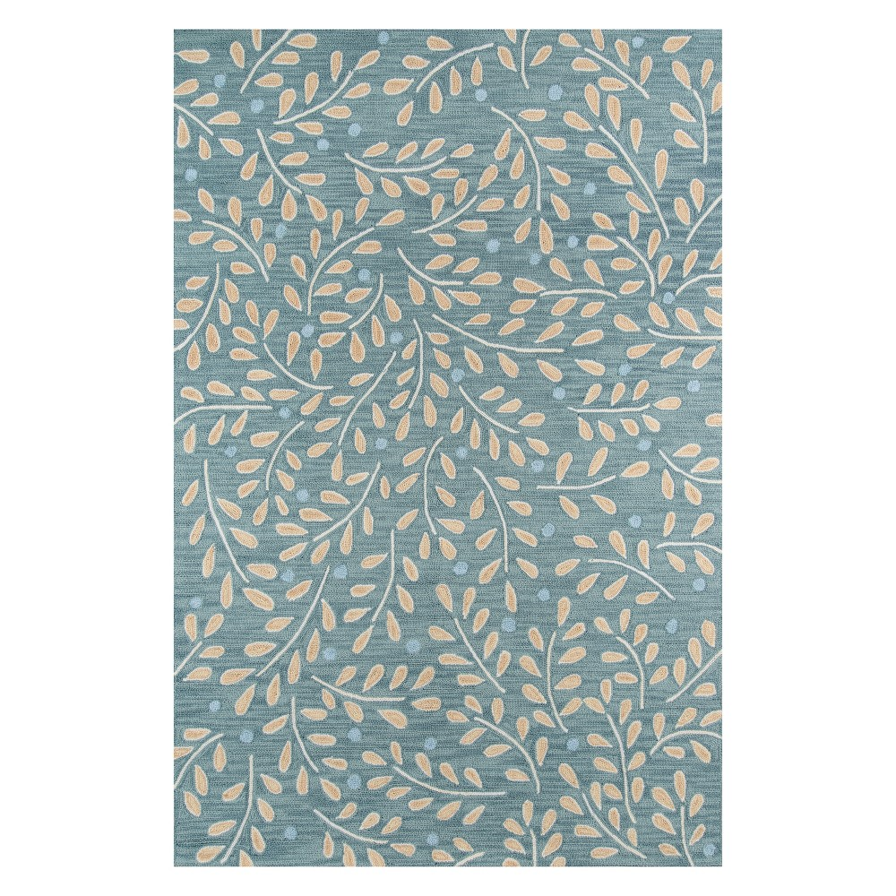 8'X10' Floral Hooked Area Rug Green - Momeni