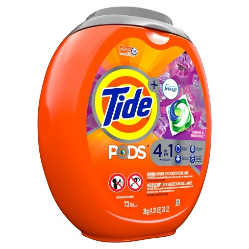 Tide Pods Laundry Detergent Pacs Spring Renewal - 73ct - image 1 of 3