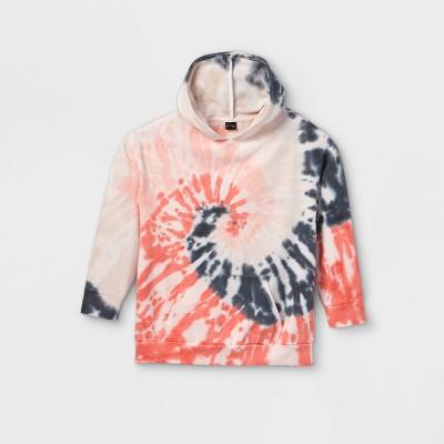 Girls' Oversized Tie-Dye Sweatshirt - art class™ Pink/Gray
