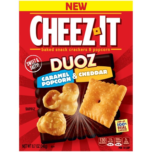 Cheez-It Duoz Caramel Popcorn & Cheddar Snack Crackers - 8.7oz - image 1 of 8