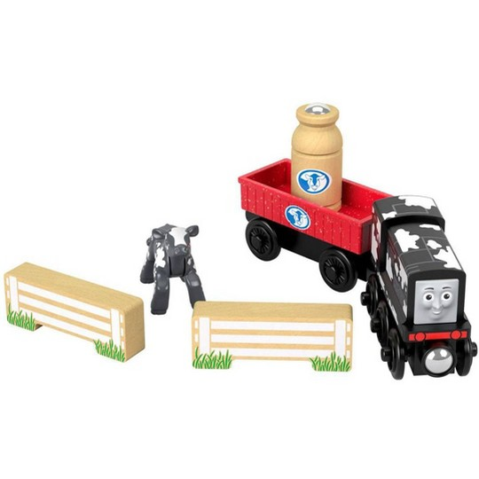 Fisher-Price Thomas & Friends Wood Diesel's Dairy Drop-off image number null