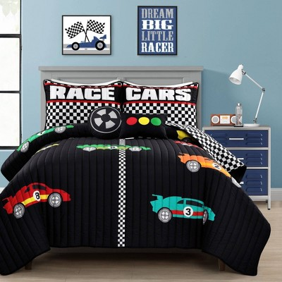 Racing Cars Quilt Set - Lush Décor