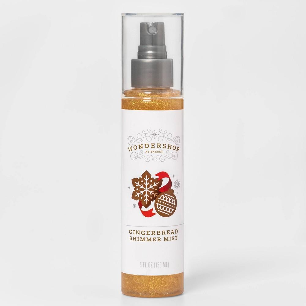 Image of Gingerbread Shimmer Body Mist Spray - Gold - 5 fl oz - Wondershop