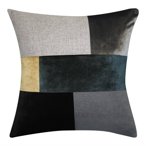 Canaby Color Block Square Throw Pillow Teal - Edie @ Home - image 1 of 4