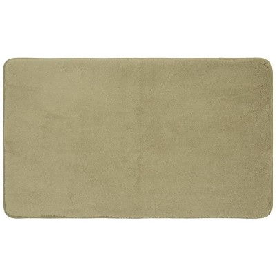 "24""x17"" Velveteen Memory Foam Bath Rug Taupe - Room Essentials™"