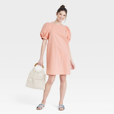 Women's Puff Short Sleeve Dress - A New Day™