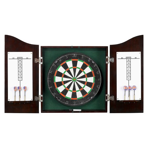 Centerpoint Solid Wood Dartboard & Cabinet Set - Dark Cherry Finish - image 1 of 5
