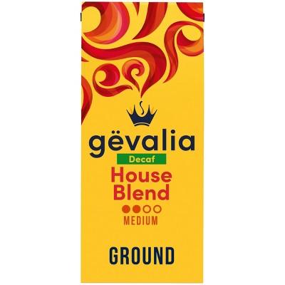 Gevalia House Blend Medium Dark Roast Ground Coffee - Decaf - 12oz