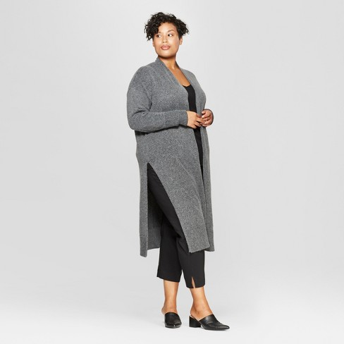 Women's Plus Size Long Sleeve Cardigan - Prologue™ Gray - image 1 of 3
