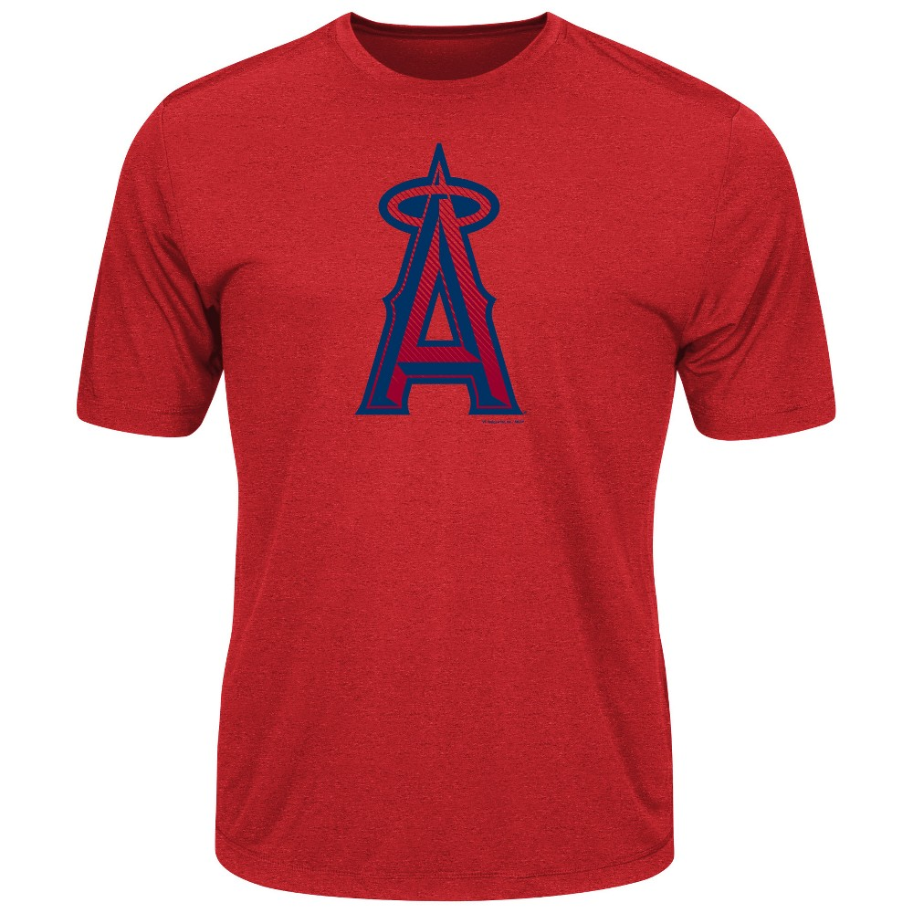Los Angeles Angels Men's Short Sleeve Crew Neck Heathered Performance T-Shirt - M