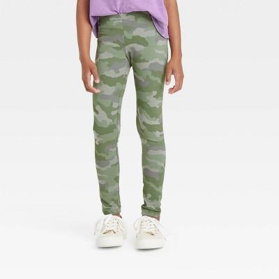 Girls' Camo Leggings - Cat & Jack™ Army Green