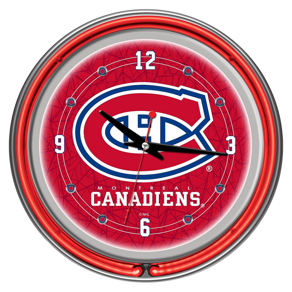 Montreal Canadiens Neon Wall Clock
