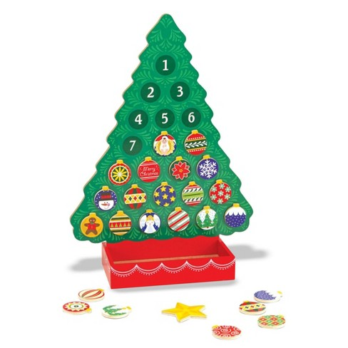 Picture Of A Christmas Tree.Melissa Doug Wooden Advent Calendar Magnetic Christmas Tree 25 Magnets