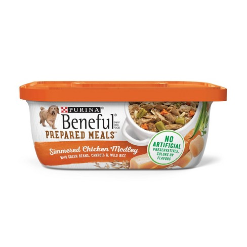 Beneful Prepared Meals (Chicken Medley with Green Beans, Carrots & Wild Rice) - Wet Dog Food - 10oz - image 1 of 4