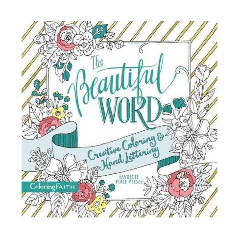 Beautiful Word Adult Coloring Book : Creative Coloring And Hand ...
