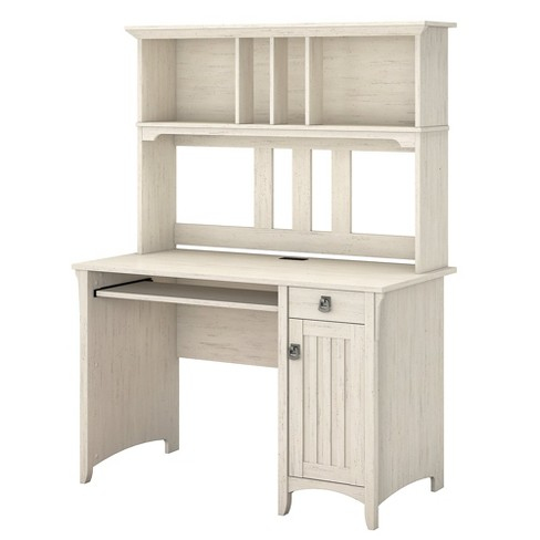 Salinas Mission Desk Hutch Antique White Bush Furniture Target