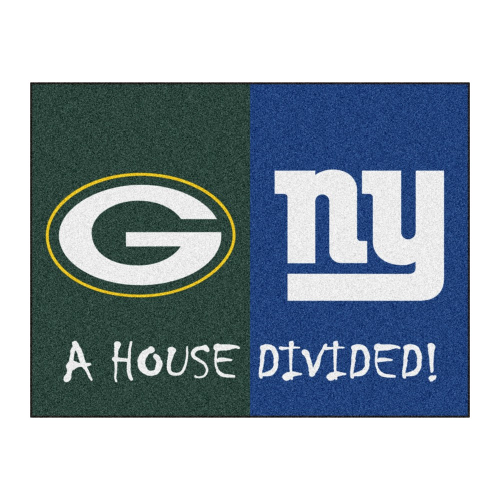 NFL Green Bay Packers/New York Giants House Divided Rug 33.75