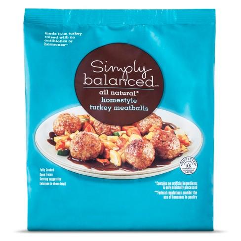 Homestyle Frozen Turkey Meatballs - 20oz - Simply Balanced™ - image 1 of 1