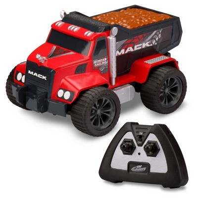 Kid Galaxy RC Mack Dump Truck with Rechargeable Battery