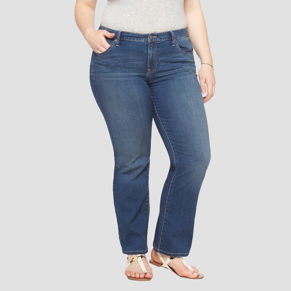 Women's Plus Size Bootcut Denim Jeans - Ava & Viv - Medium Blue 20W