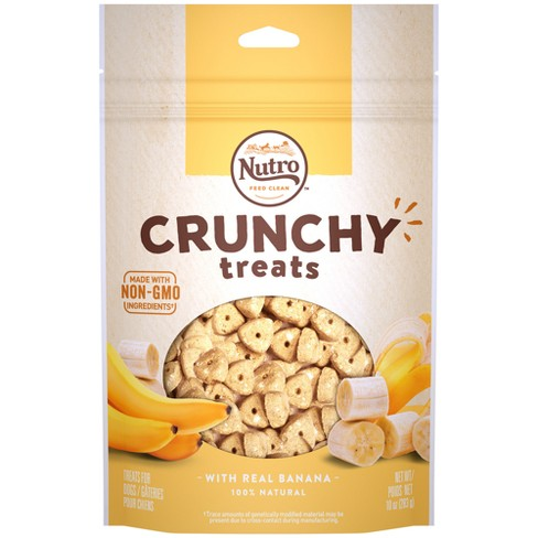 Nutro Crunchy Banana Dog Treats - 10oz - image 1 of 4