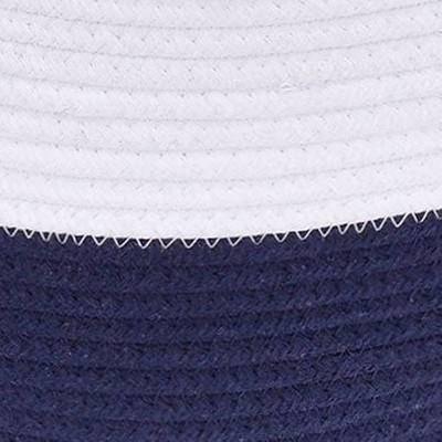 White/ Navy Blue