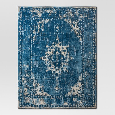 Blue Medallion Woven Area Rug 4'X6' - Threshold™