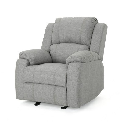 Mozelle Classic Gliding Recliner Gray Fabric - Christopher Knight Home