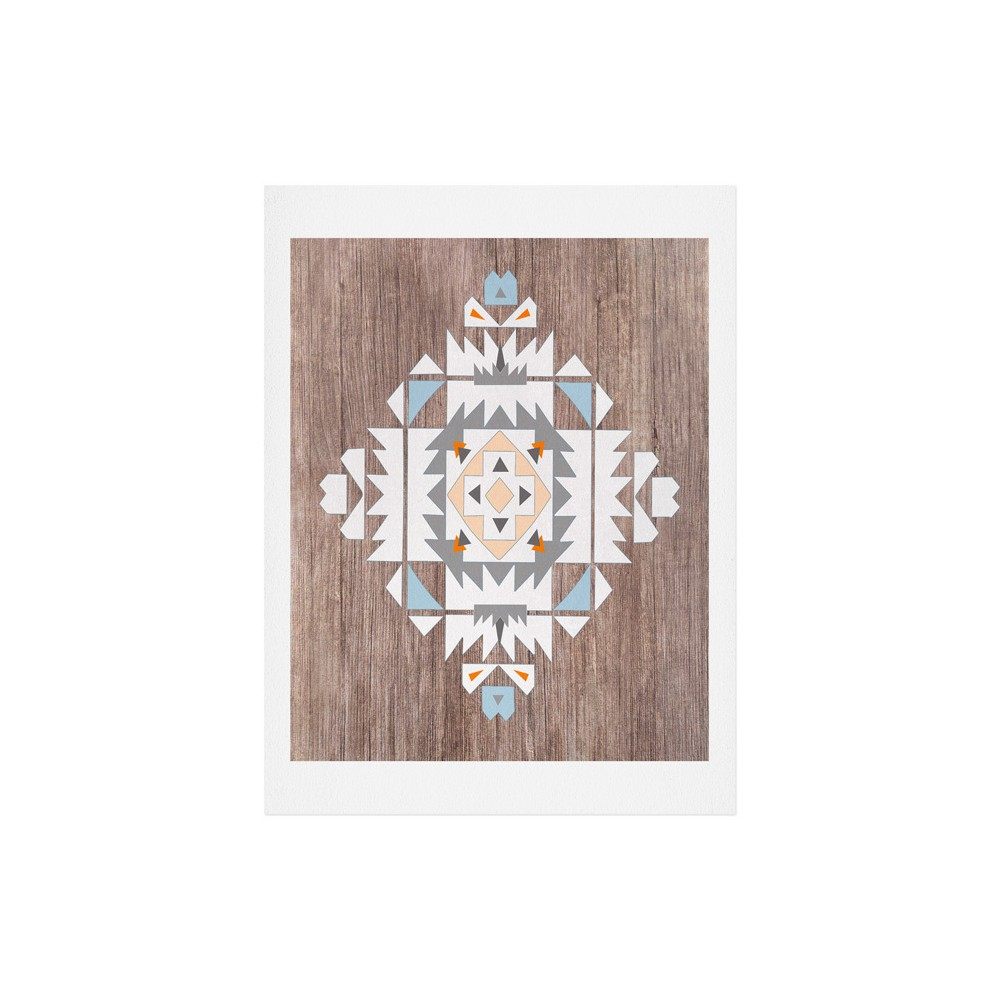 Iveta Abolina Cream Geometric Art Print 18 34 X 24 34 Deny Designs