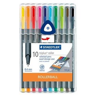 Pen Set 10 ea Multicolored Rollerball Staedtler