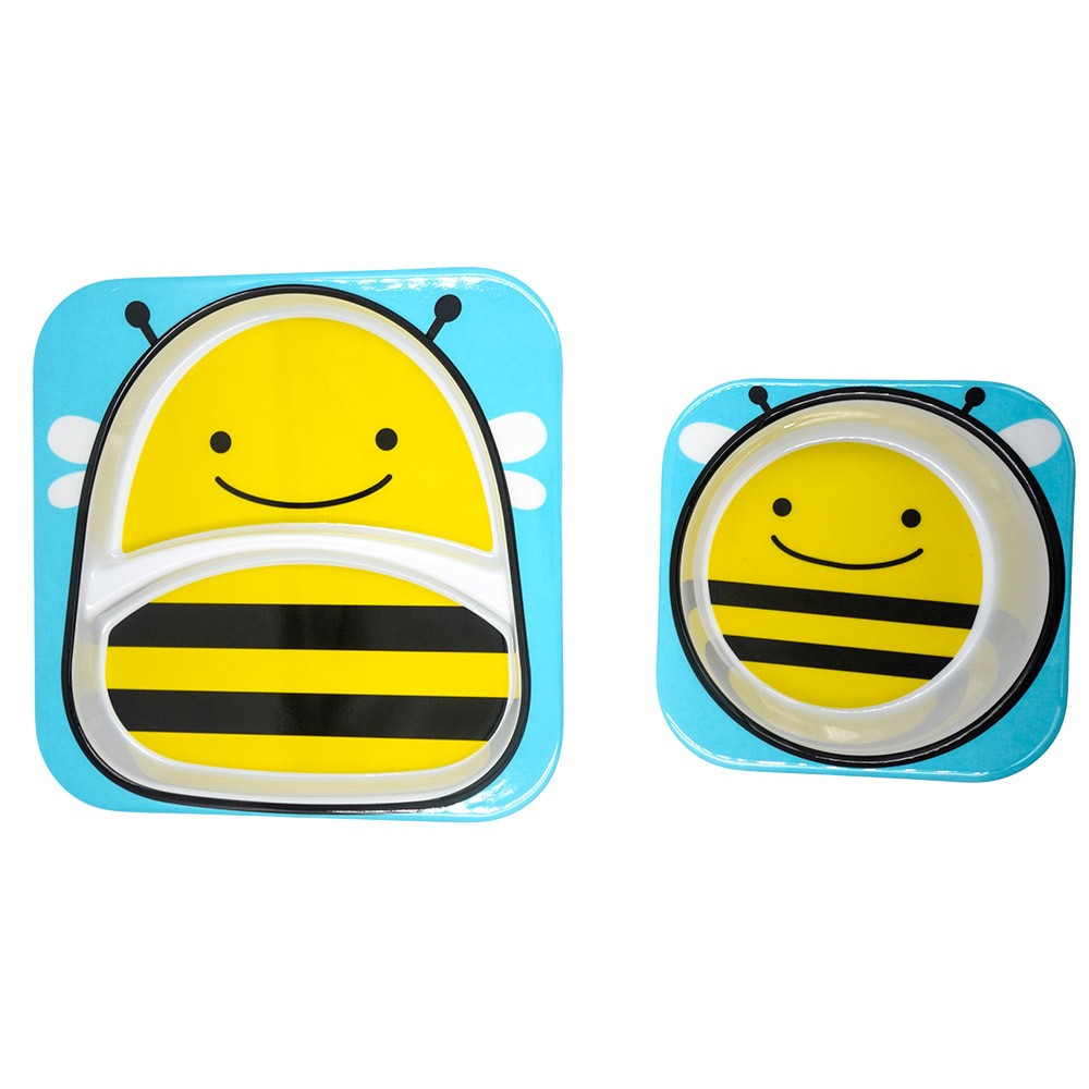 Image of Skip Hop 2pc At Home Plate and Bowl Set - Bee