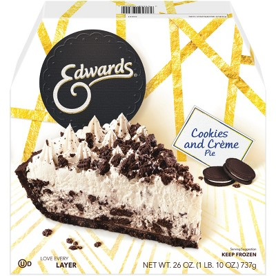 Edwards Frozen Cookies and Creme Pie - 26oz